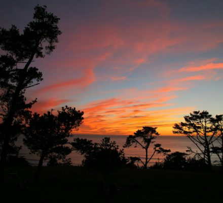 Spectacular sunsets over the Pacific Ocean every day!