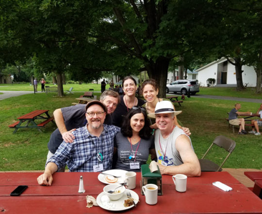 New friends, connected by a shared passion – songwriting!